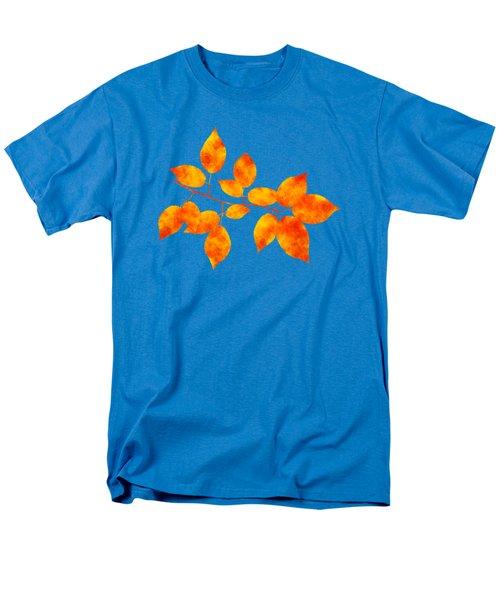 Black Cherry Pressed Leaf Art Men's T-Shirt  (Regular Fit)