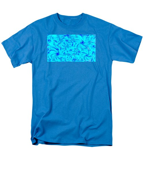 Blue And Turquoise 2 Men's T-Shirt  (Regular Fit) by Linda Velasquez