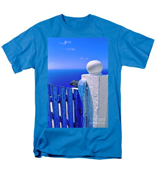 Blue Gate Men's T-Shirt  (Regular Fit) by Silvia Ganora