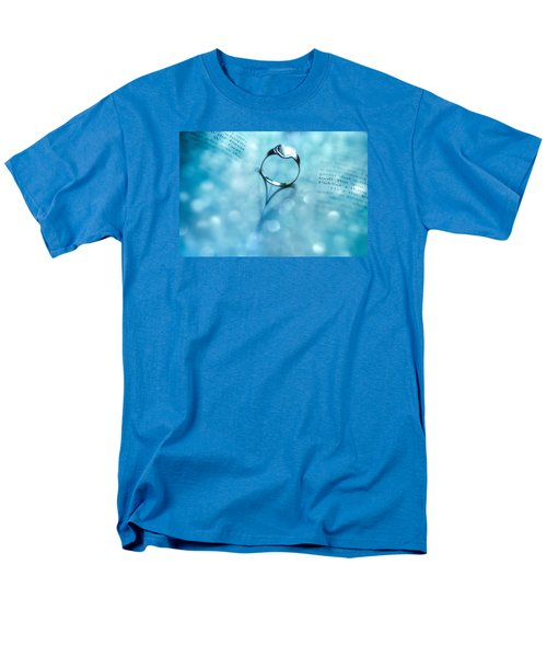 Blue Heart Men's T-Shirt  (Regular Fit) by Martina Fagan