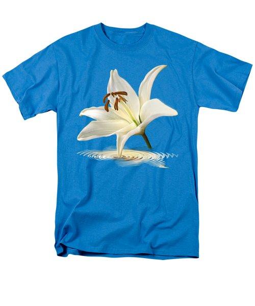 Blue Horizons - White Lily Men's T-Shirt  (Regular Fit)