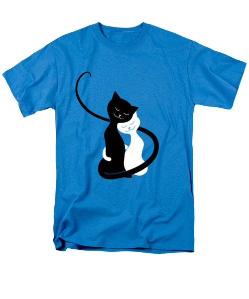 Blue Love Cats Men's T-Shirt  (Regular Fit)