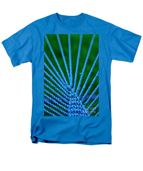 Blue Weave Men's T-Shirt  (Regular Fit)