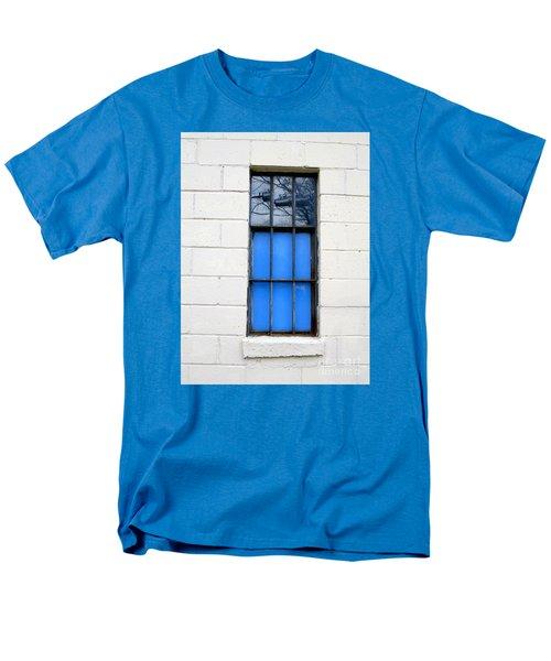 Blue Window Panes Men's T-Shirt  (Regular Fit) by Sandra Church