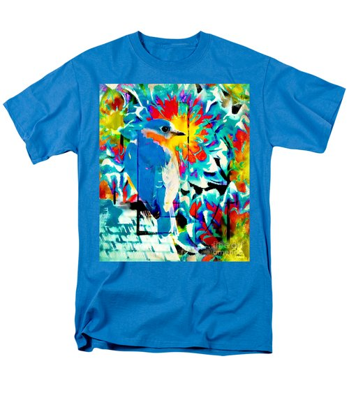 Bluebird Pop Art Men's T-Shirt  (Regular Fit) by Tina LeCour