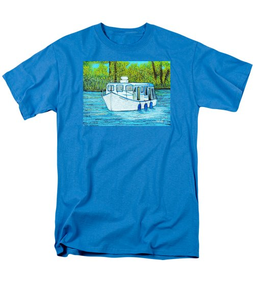 Boat On The River Men's T-Shirt  (Regular Fit) by Reb Frost