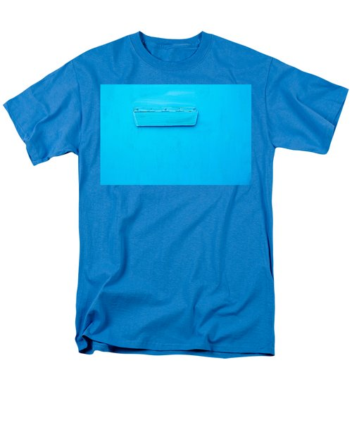 Men's T-Shirt  (Regular Fit) featuring the photograph Bright Blue Paint On Metal With Postbox by John Williams