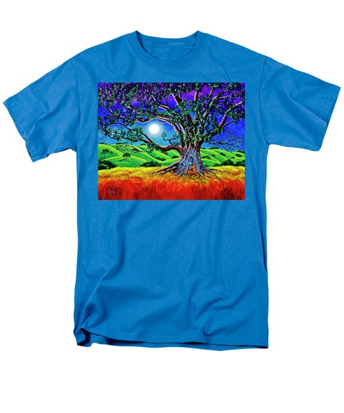 Buddha Healing The Earth Men's T-Shirt  (Regular Fit) by Laura Iverson