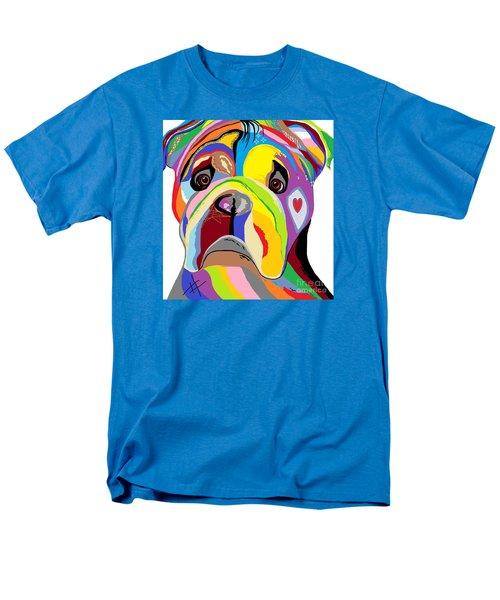 Bulldog Men's T-Shirt  (Regular Fit) by Eloise Schneider
