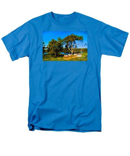 Men's T-Shirt  (Regular Fit) featuring the photograph Campfire Lake by Rick Bragan