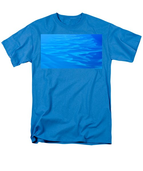 Men's T-Shirt  (Regular Fit) featuring the photograph Caribbean Ocean Abstract by Jetson Nguyen