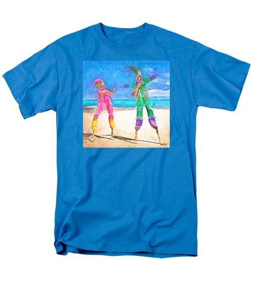 Men's T-Shirt  (Regular Fit) featuring the painting Caribbean Scenes - Moko Jumbie by Wayne Pascall
