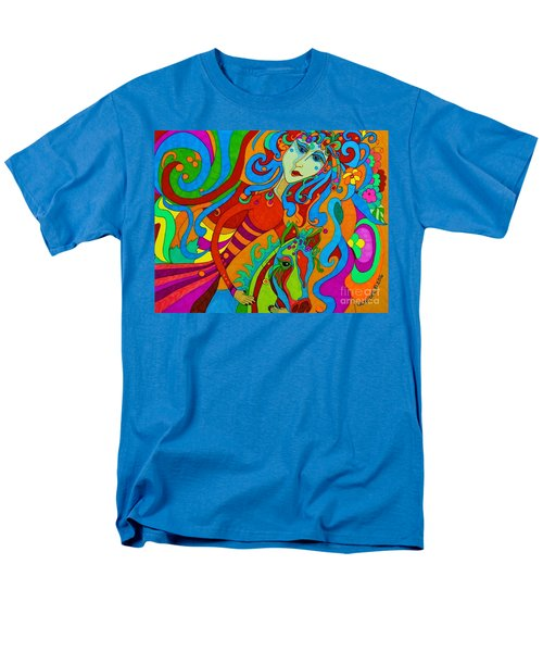 Men's T-Shirt  (Regular Fit) featuring the painting Carousel Dance 2016 by Alison Caltrider