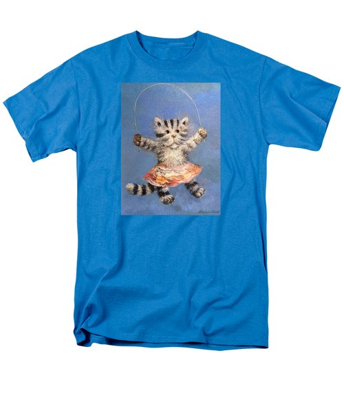 Cat And Skip Rope Men's T-Shirt  (Regular Fit) by Mikhail Savchenko