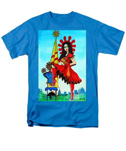 Men's T-Shirt  (Regular Fit) featuring the painting Catalan Girl In Converse by Don Pedro De Gracia