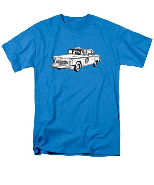 Checkered Taxi Cab Illustrastion Men's T-Shirt  (Regular Fit)