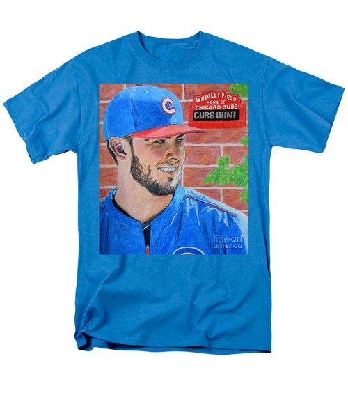 Chicago Cubs Kris Bryant Portrait Men's T-Shirt  (Regular Fit) by Melissa Goodrich