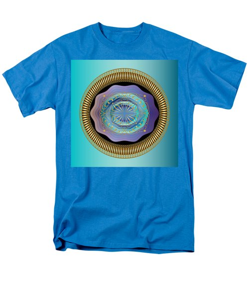 Men's T-Shirt  (Regular Fit) featuring the digital art Circularium No 2663 by Alan Bennington