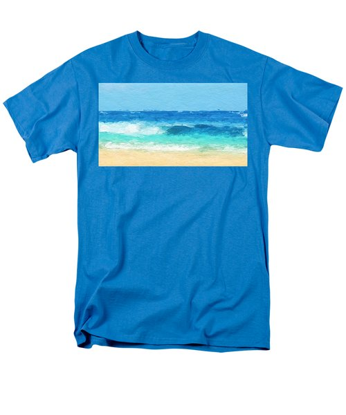 Clear Blue Waves Men's T-Shirt  (Regular Fit) by Anthony Fishburne