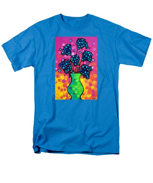 Colorful Flower Bouquet By Sharon Cummings Men's T-Shirt  (Regular Fit) by Sharon Cummings