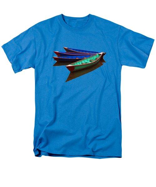 Colourful Fishing Boats  Men's T-Shirt  (Regular Fit)