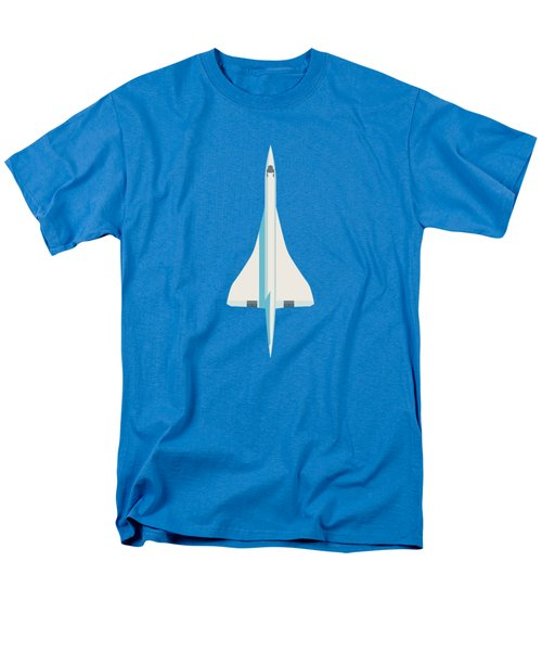 Concorde Jet Airliner - Blue Men's T-Shirt  (Regular Fit)