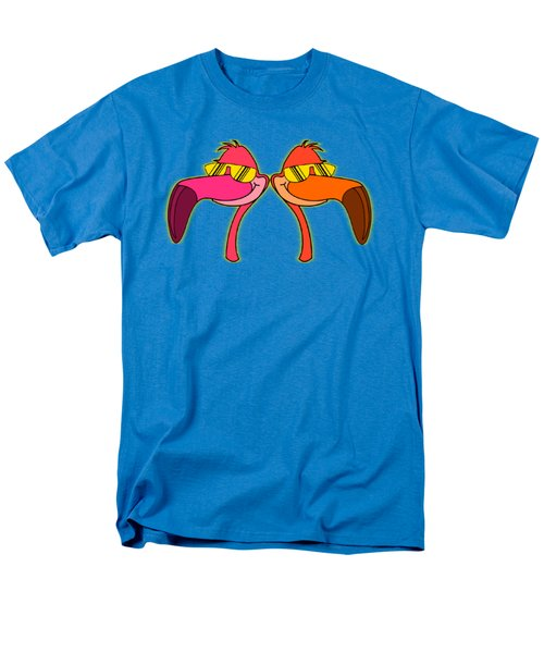 Cool As Flamingos Men's T-Shirt  (Regular Fit) by Stephanie Brock