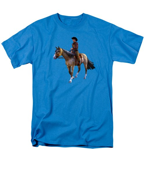 Men's T-Shirt  (Regular Fit) featuring the digital art Cowboy Blue by Methune Hively