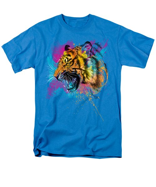 Crazy Tiger Men's T-Shirt  (Regular Fit) by Olga Shvartsur