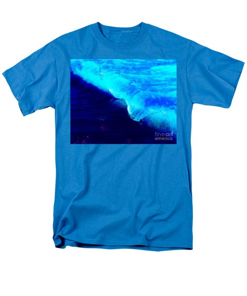 Crystal Blue Wave Painting Men's T-Shirt  (Regular Fit) by Catherine Lott
