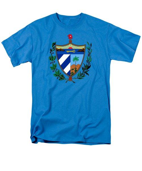 Cuba Coat Of Arms Men's T-Shirt  (Regular Fit) by Movie Poster Prints