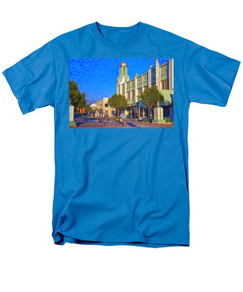 Men's T-Shirt  (Regular Fit) featuring the photograph Culver City Plaza Theaters   by David Zanzinger