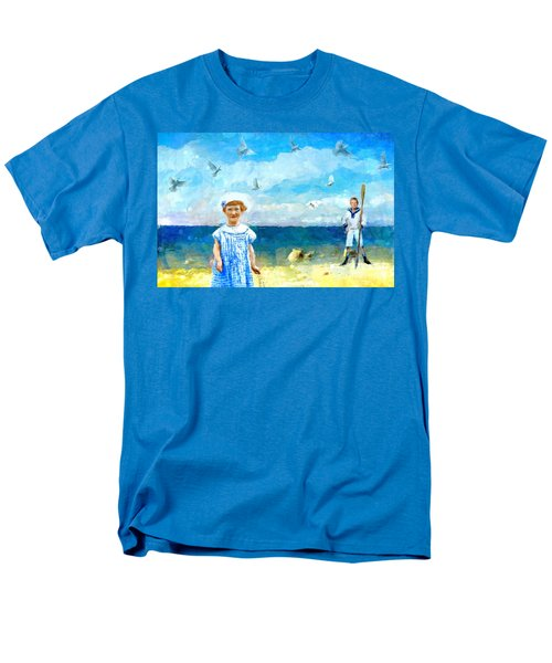 Men's T-Shirt  (Regular Fit) featuring the digital art Day At The Shore by Alexis Rotella