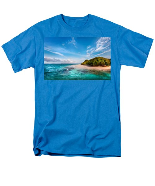 Men's T-Shirt  (Regular Fit) featuring the photograph Deserted Maldivian Island by Jenny Rainbow