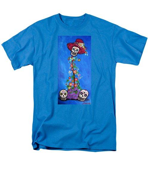 Men's T-Shirt  (Regular Fit) featuring the painting Dia De Los Muertos by Pristine Cartera Turkus