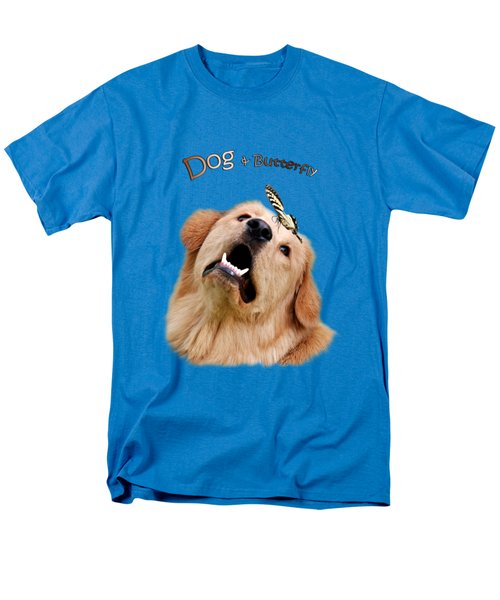 Dog And Butterfly Men's T-Shirt  (Regular Fit) by Christina Rollo