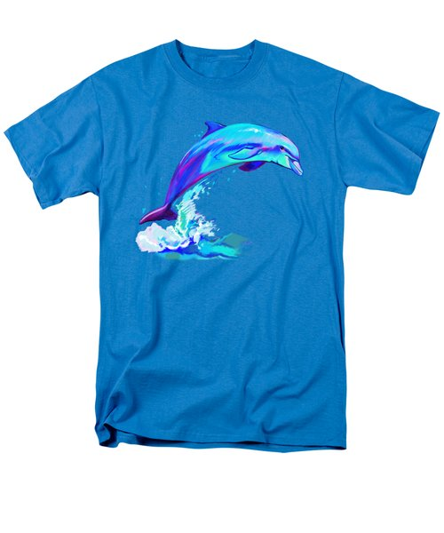 Dolphin In Colors Men's T-Shirt  (Regular Fit) by A