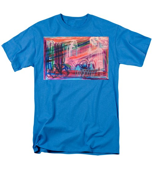 Men's T-Shirt  (Regular Fit) featuring the painting Downtown Cincinnati by Diane Pape