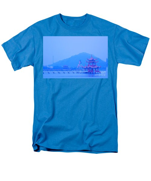 Men's T-Shirt  (Regular Fit) featuring the photograph Early Morning At The Lotus Lake by Yali Shi