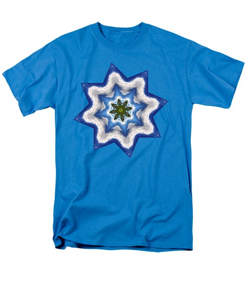 Men's T-Shirt  (Regular Fit) featuring the photograph Earth Through A Star by Kaye Menner