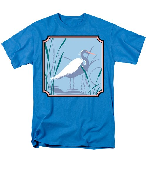 Egret Tropical Abstract - Square Format Men's T-Shirt  (Regular Fit) by Walt Curlee