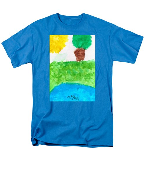 Men's T-Shirt  (Regular Fit) featuring the painting El Paisaje by Artists With Autism Inc