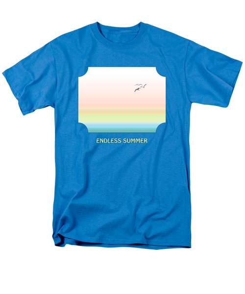 Endless Summer - Blue Men's T-Shirt  (Regular Fit) by Gill Billington