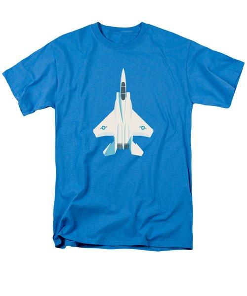 F15 Eagle Us Air Force Fighter Jet Aircraft - Blue Men's T-Shirt  (Regular Fit)