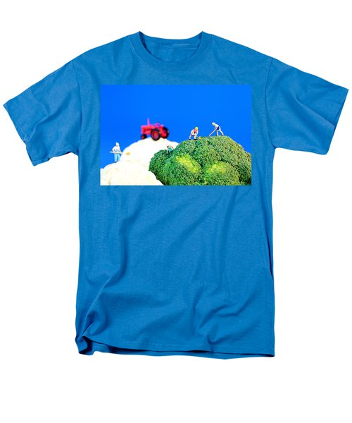Farming On Broccoli And Cauliflower II Men's T-Shirt  (Regular Fit) by Paul Ge