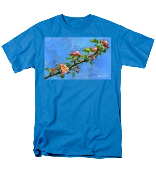 Flowering Apple Branch Men's T-Shirt  (Regular Fit) by Dragica Micki Fortuna