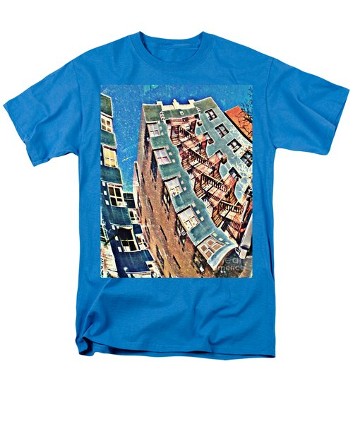 Fort Washington Avenue Building Men's T-Shirt  (Regular Fit) by Sarah Loft