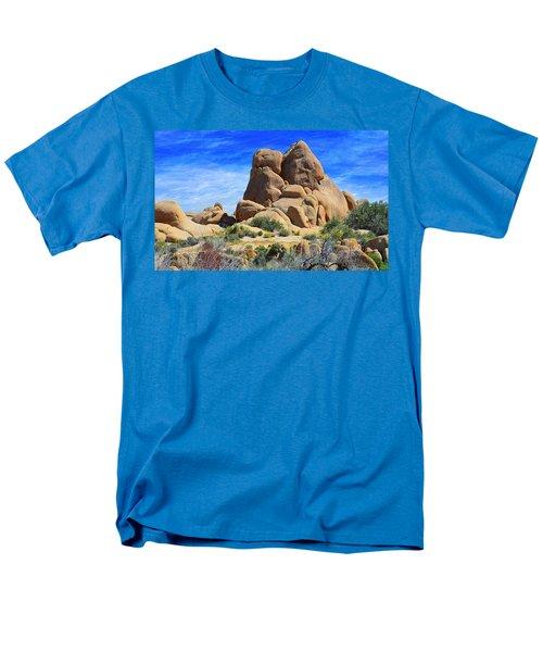 Ghost Rock - Joshua Tree National Park Men's T-Shirt  (Regular Fit) by Glenn McCarthy Art and Photography