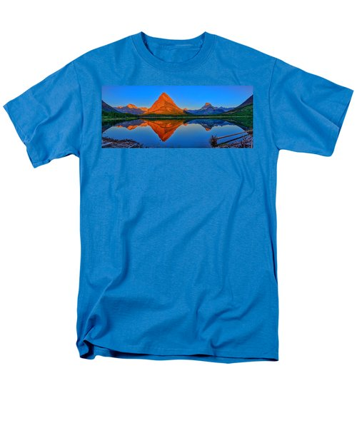 Men's T-Shirt  (Regular Fit) featuring the photograph Grinnell Point Alpenglow Panorama by Greg Norrell