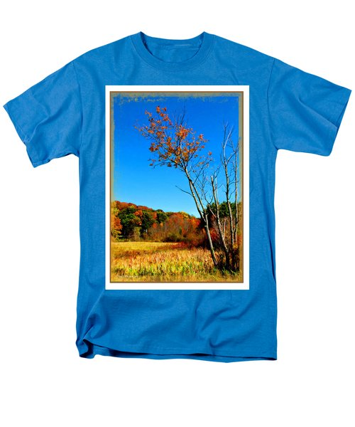 Men's T-Shirt  (Regular Fit) featuring the photograph Hanging On To Autumn by Joan  Minchak